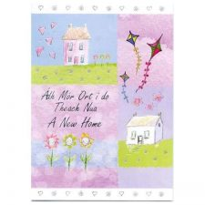 New Home Card with Irish and English text