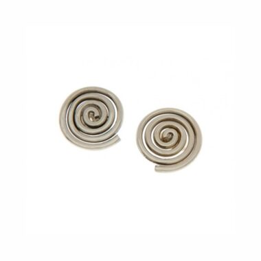 Newgrange Spiral Stud Earrings handmade in Ireland