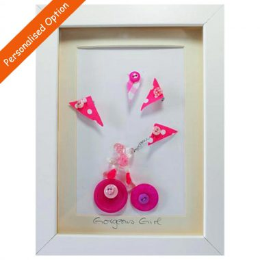 Gorgeous Girl Buttons made in Ireland, perfect baby girl gift