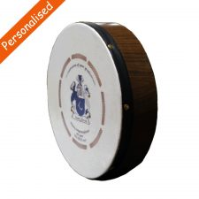 Personalised bodhran coat of arms gift made in Ireland