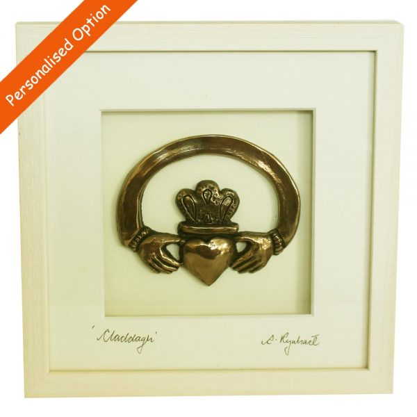 Claddagh Ring Bronze Art, made in Ireland by Rynhart