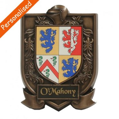 single coat of arms, bronze gift made in Ireland by Druid craft