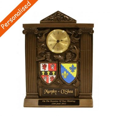 large double coat of arms Clock made in Ireland
