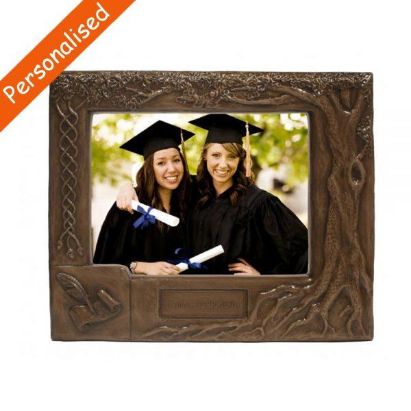 Personalised Bronze Graduation Photo Frame, made in Ireland