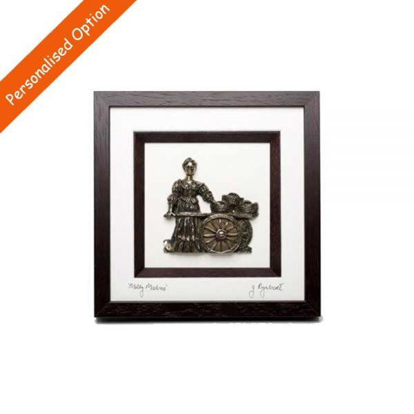 3D Molly Malone Framed Bronze, designed and made in Ireland by Rynhart