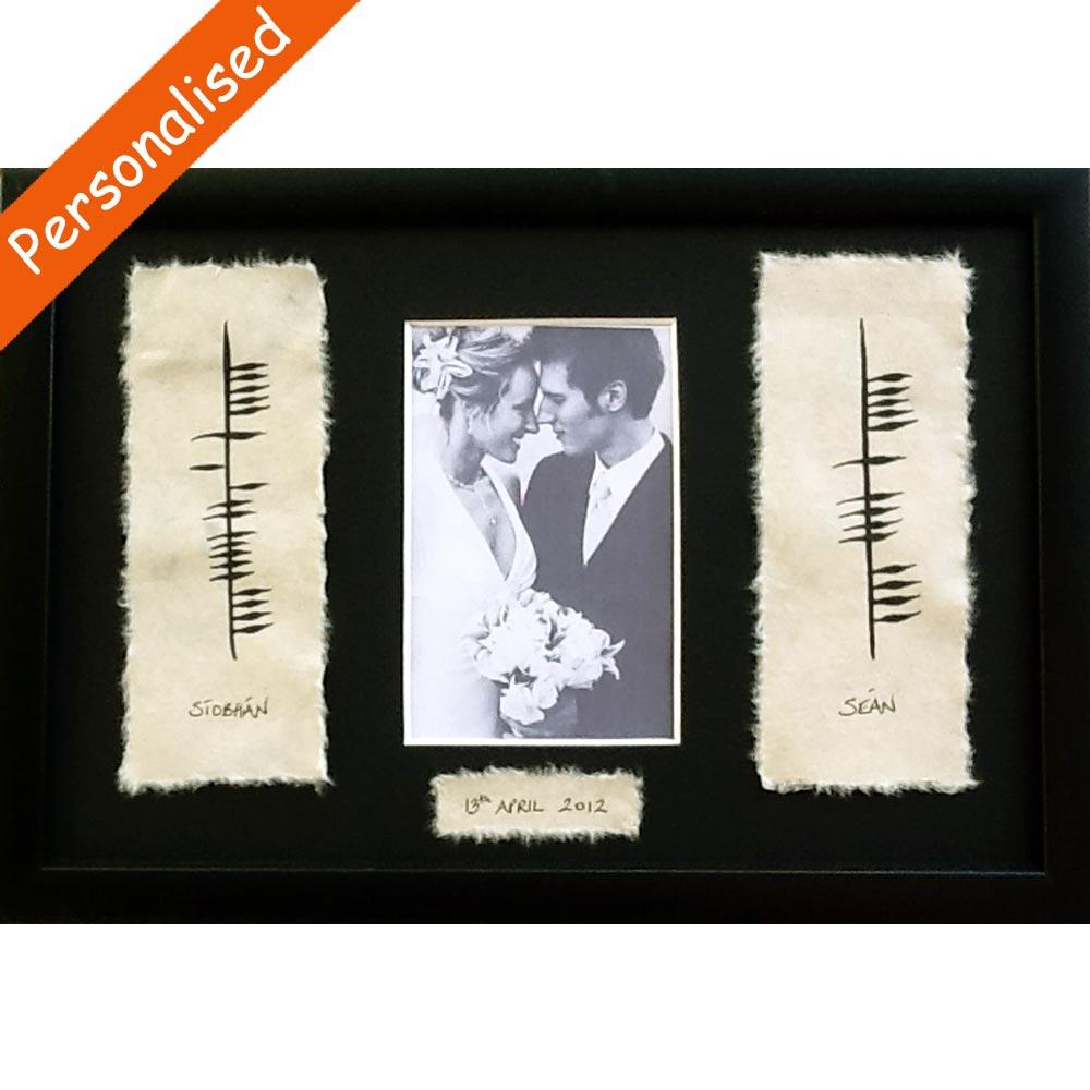2d4981784d3e Ogham Wedding Photo Frame made in Ireland