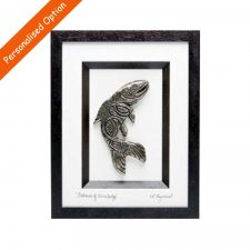 Salmon of Knowledge bronze art, framed and signed by the artist, handmade in Ireland