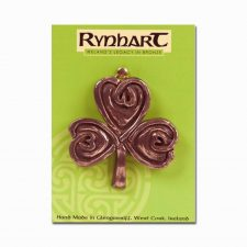 Shamrock Bronze Wall Ornament, made in Ireland by Rynhart Fine Art Bronze Gifts