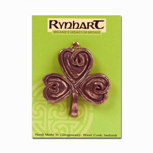 Shamrock Bronze Wall Ornament, made in Ireland by Rynhart Fine Art Bronze Gifts