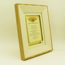 silver anniversary poem gifts Ireland, sentimental poem in a wooden frame, made in Ireland