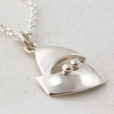 Quality Mini Voyage Silver Pendant, designed and made in Ireland by Garrett Mallon