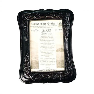 Celtic Photo frame handcrafted from Irish boglands turf