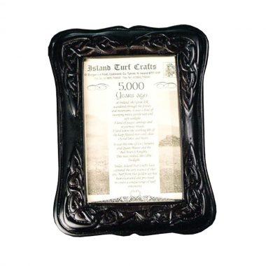 Celtic Photo frame handcrafted from Irish boglands turf