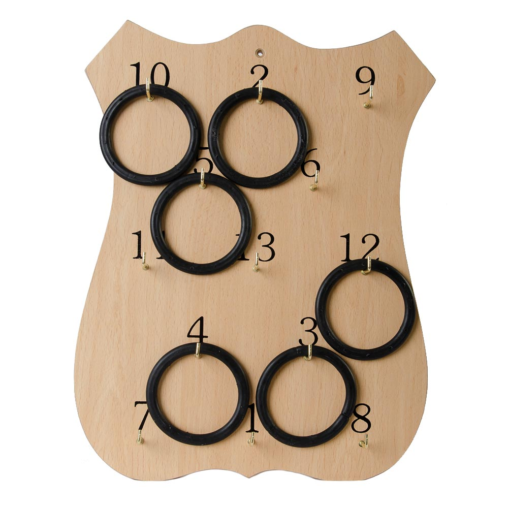 traditional wooden ring board, made in ireland