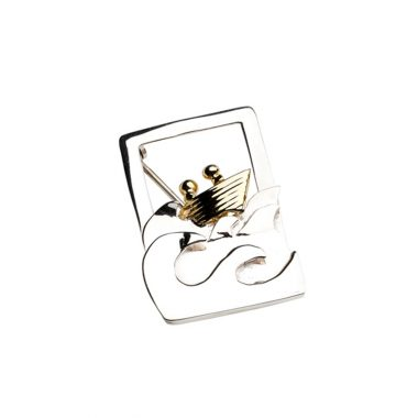 Quality Voyage 3D Gold Plated and Silver Brooch, designed and made in Ireland by Garrett Mallon