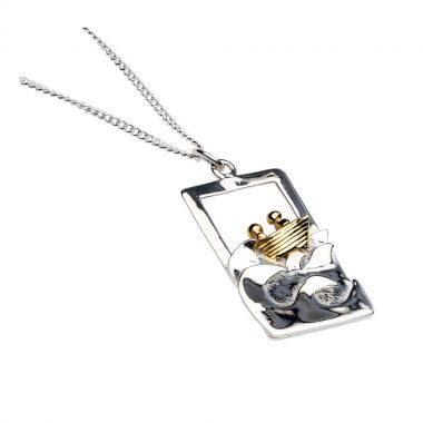 Quality Gold Plated and Silver Voyage Pendant, designed and made in Ireland by Garrett Mallon