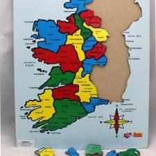 Map Of Ireland 32.32 Counties Of Ireland Wooden Jigsaw 20 Buy Irish Jigsaw Online