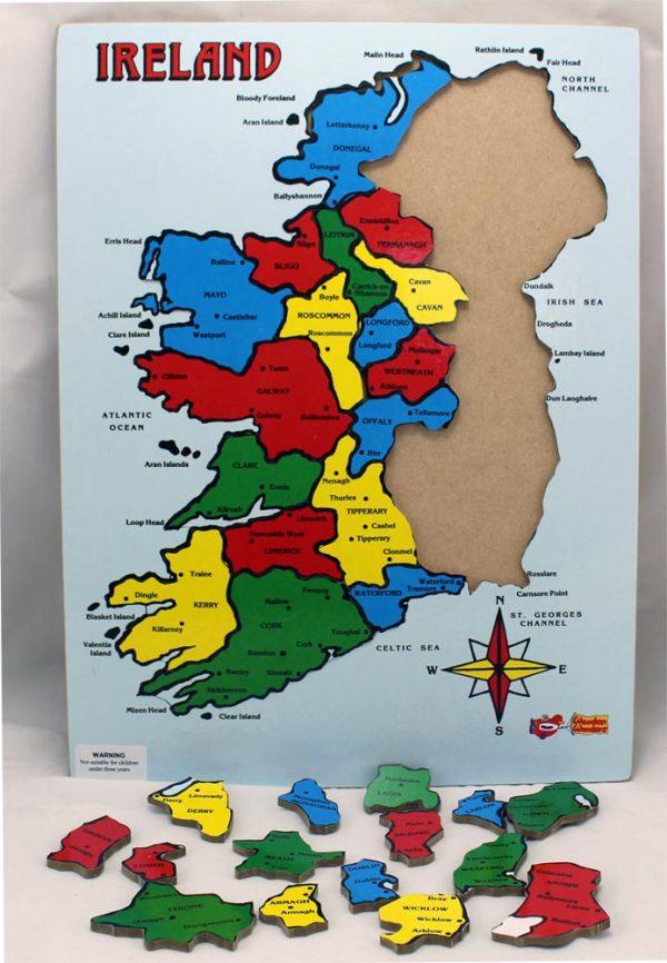 32 County Map Of Ireland.32 Counties Of Ireland Wooden Jigsaw