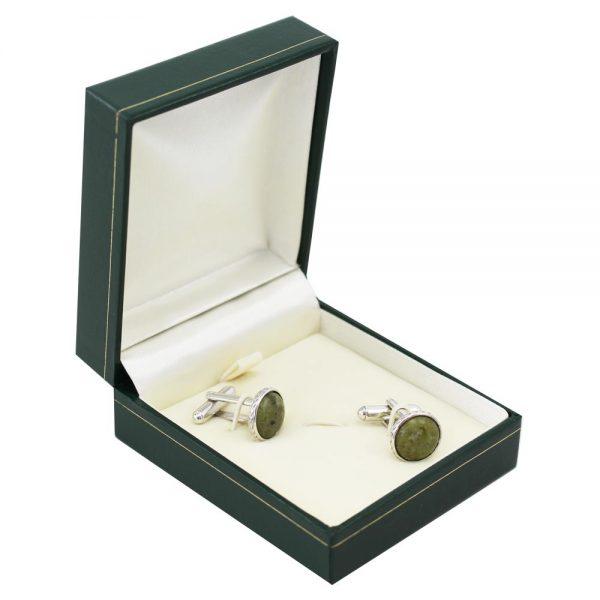 Connemara Marble Cufflinks, gifts for men Ireland