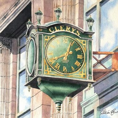 Clerys Clock print by Sean Curran Art