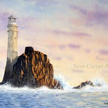 Fastnet Lighthouse print by Sean Curran Art