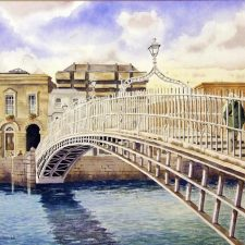 Ha'Penny Bridge print by Sean Curran Art