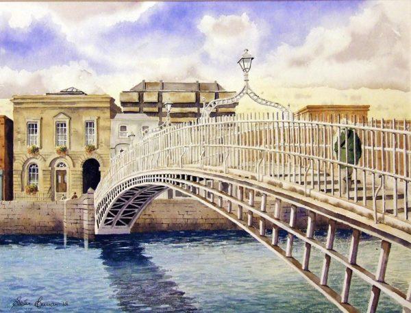 Ha'penny Bridge print by Sean Curran Art