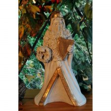 Hibernian Santa Christmas Decoration, hand cast in Ireland