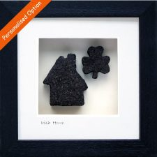 Quirky new home gifts, Irish Home and Shamrock, cut from turf peat bog, made in Ireland