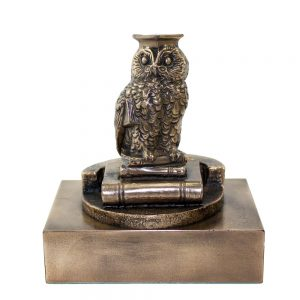 wise owl bronze statue graduation gifts made in Ireland