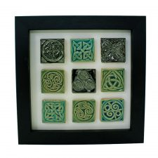 Celtic design tiles, set of 9 mini tiles each with a different Celtic design