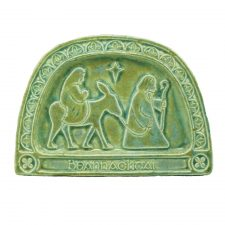Gaelic Nativity Plaque, handmade in Ireland by Callura Pottery