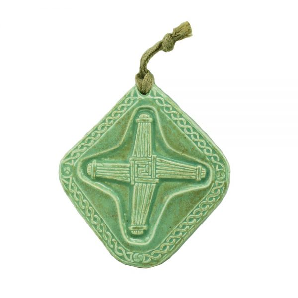 Ceramic St. Brigid's Cross made in Ireland by Callura Pottery