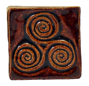 Triple Spiral Celtic Design