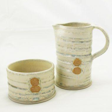 Irish Pottery Milk Jug and Sugar Bowl, handmade in Ireland by Amanda Murphy Pottery