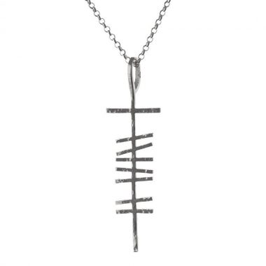 Ogham Silver Pendant for Men made in Ireland