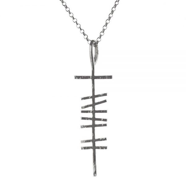 Ogham Pendant Men made in Ireland