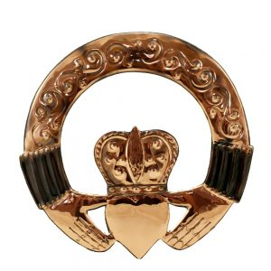 Claddagh Ring wall art handcrafted from copper Gifts made in Ireland