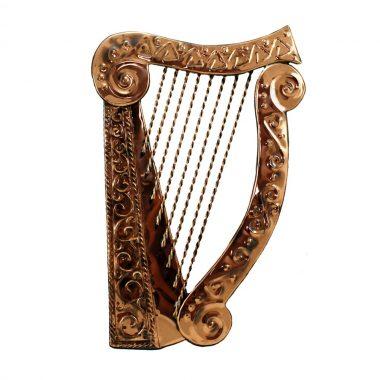Irish Celtic Harp handcrafted from copper in Ireland