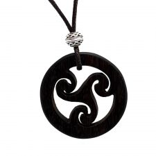 Triskele Wooden Pendant made from Rosewood