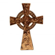 Celtic Cross handcrafted from copper made in Ireland