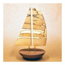 Wooden balancing boat, yacht, unique gifts made in Ireland