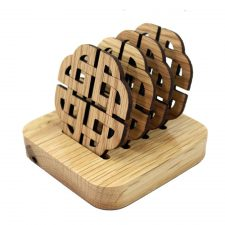 wooden coaster set Celtic coasters made in Ireland