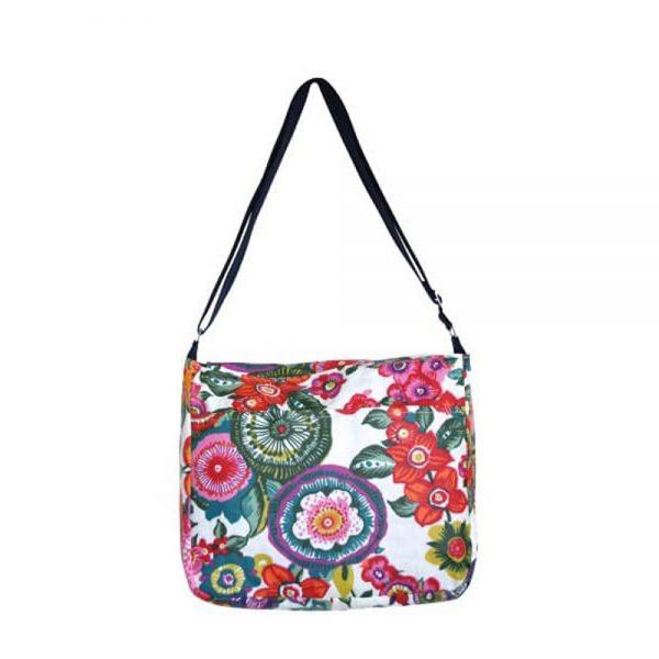 Large showerproof bag, Sallyann, handmade in ireland, denim inside