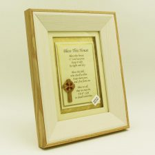 Bless this house poem in a lovely wooden frame
