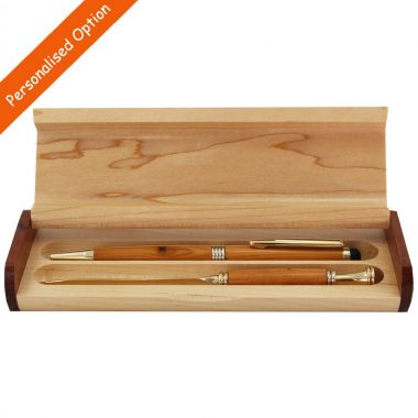 Wooden pen & letter opener handcrafted in yew, option to personalise