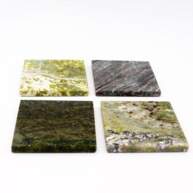 Connemara Marble coasters made in Ireland