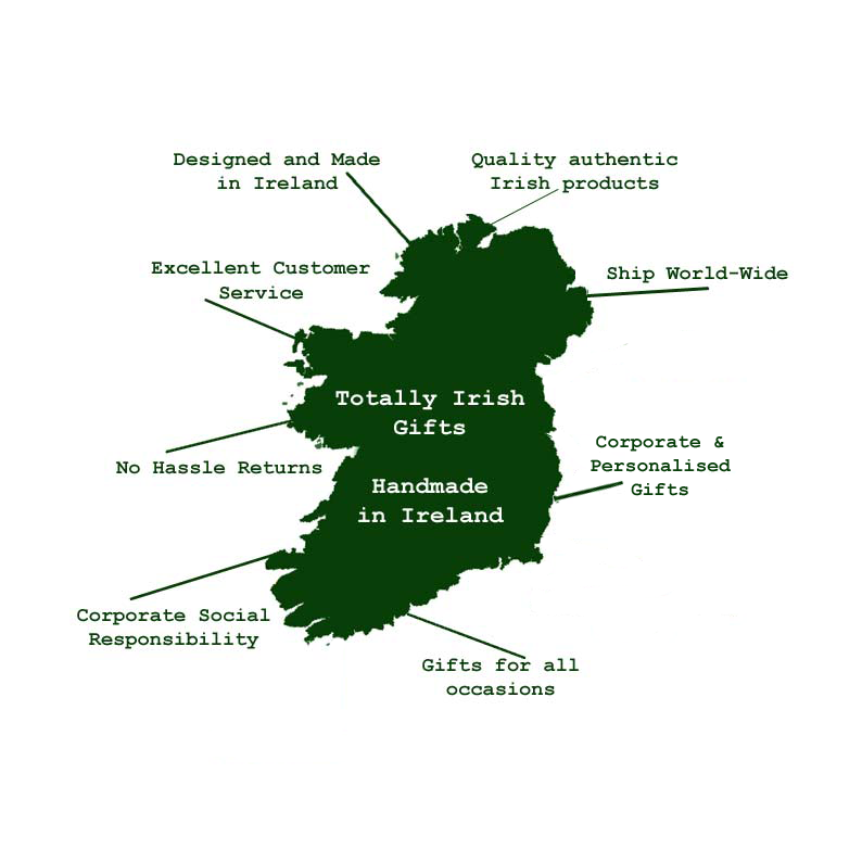 Map of Ireland, Irish Gifts made in Ireland