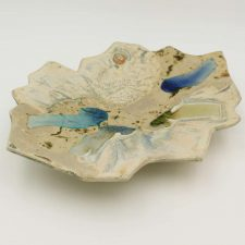 irish pottery landscape platter, handmade by Amanda Murphy, Waterford, Ireland
