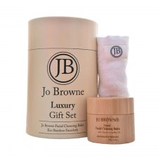 Jo Browne Luxury Gift Set, suitable for all skin types, facial cleansing balm and eco bamboo facecloth